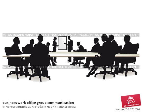 business work office group communication. Стоковая иллюстрация, иллюстратор Norbert Buchholz / PantherMedia / Фотобанк Лори