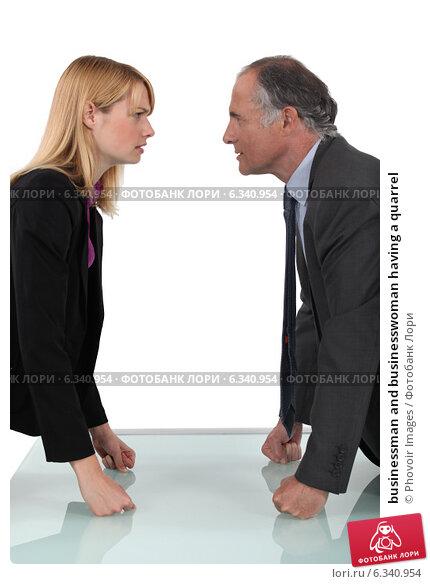 Купить «businessman and businesswoman having a quarrel», фото № 6340954, снято 6 мая 2011 г. (c) Phovoir Images / Фотобанк Лори