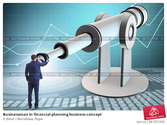 Купить «Businessman in financial planning business concept», фото № 28727910, снято 22 февраля 2019 г. (c) Elnur / Фотобанк Лори