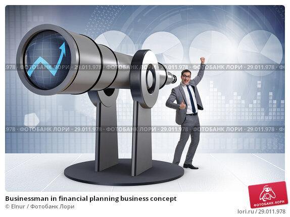 Купить «Businessman in financial planning business concept», фото № 29011978, снято 22 февраля 2019 г. (c) Elnur / Фотобанк Лори