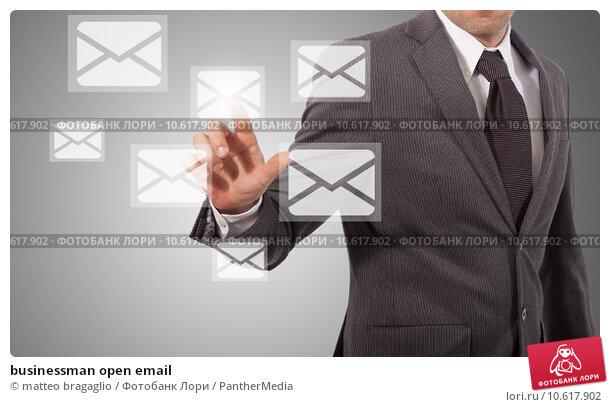 businessman open email. Стоковое фото, фотограф matteo bragaglio / PantherMedia / Фотобанк Лори