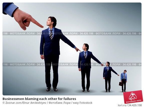 Businessmen blaming each other for failures. Стоковое фото, фотограф Zoonar.com/Elnur Amikishiyev / easy Fotostock / Фотобанк Лори