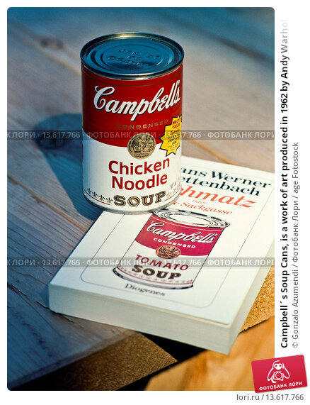 an introduction to the analysis of the artwork chicken noddle soup by andy warhol