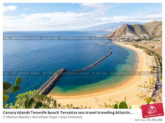 Canary islands Tenerife beach Teresitas sea travel traveling Atlantic... Стоковое фото, фотограф Markus Mainka / easy Fotostock / Фотобанк Лори