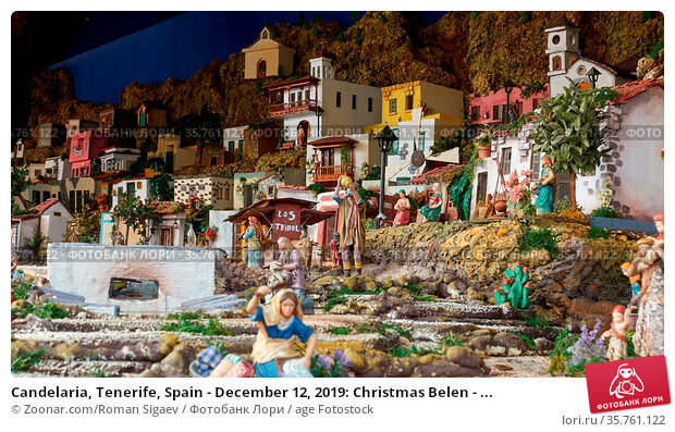 Candelaria, Tenerife, Spain - December 12, 2019: Christmas Belen - ... Стоковое фото, фотограф Zoonar.com/Roman Sigaev / age Fotostock / Фотобанк Лори