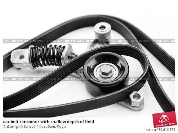 Купить «car belt tensioner with shallow depth of field», фото № 30616378, снято 15 апреля 2019 г. (c) Дмитрий Бачтуб / Фотобанк Лори
