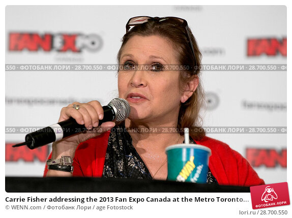 Купить «Carrie Fisher addressing the 2013 Fan Expo Canada at the Metro Toronto Convention Centre in Toronto, Canada. Featuring: Carrie Fisher Where: Toronto, Ontario, Canada When: 25 Aug 2013 Credit: WENN.com», фото № 28700550, снято 25 августа 2013 г. (c) age Fotostock / Фотобанк Лори