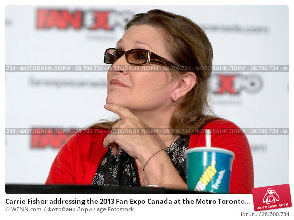 Купить «Carrie Fisher addressing the 2013 Fan Expo Canada at the Metro Toronto Convention Centre in Toronto, Canada. Featuring: Carrie Fisher Where: Toronto, Ontario, Canada When: 25 Aug 2013 Credit: WENN.com», фото № 28700734, снято 25 августа 2013 г. (c) age Fotostock / Фотобанк Лори