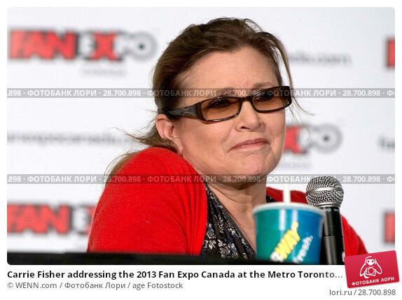 Купить «Carrie Fisher addressing the 2013 Fan Expo Canada at the Metro Toronto Convention Centre in Toronto, Canada. Featuring: Carrie Fisher Where: Toronto, Ontario, Canada When: 25 Aug 2013 Credit: WENN.com», фото № 28700898, снято 25 августа 2013 г. (c) age Fotostock / Фотобанк Лори