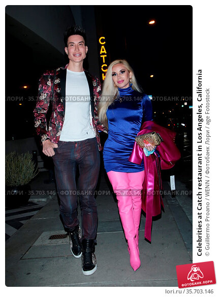Celebrities at Catch restaurant in Los Angeles, California. Редакционное фото, фотограф Guillermo Proano / WENN / age Fotostock / Фотобанк Лори
