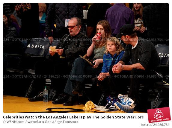 Купить «Celebrities watch the Los Angeles Lakers play The Golden State Warriors Featuring: Jack Nicholson, Lorraine Nicholson Where: Los Angeles, California, United States When: 05 Jan 2016 Credit: WENN.com», фото № 24986734, снято 5 января 2016 г. (c) age Fotostock / Фотобанк Лори