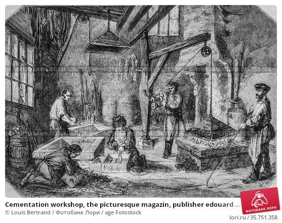 Cementation workshop, the picturesque magazin, publisher edouard ... (2009 год). Редакционное фото, фотограф Louis Bertrand / age Fotostock / Фотобанк Лори