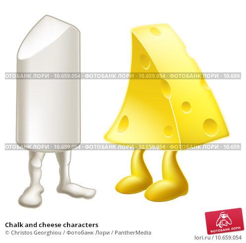 Купить «Chalk and cheese characters», иллюстрация № 10659054 (c) PantherMedia / Фотобанк Лори