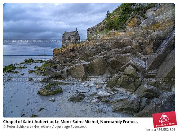 Chapel of Saint Aubert at Le Mont-Saint-Michel, Normandy France. Стоковое фото, фотограф Peter Schickert / age Fotostock / Фотобанк Лори