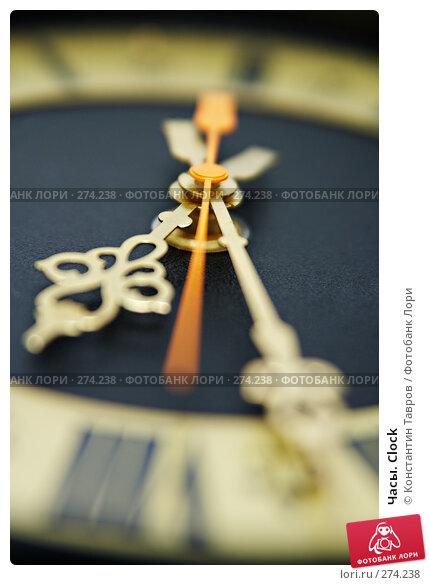 Часы. Clock, фото № 274238, снято 23 ноября 2007 г. (c) Константин Тавров / Фотобанк Лори