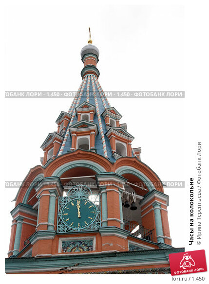 Часы на колокольне, эксклюзивное фото № 1450, снято 2 сентября 2005 г. (c) Ирина Терентьева / Фотобанк Лори
