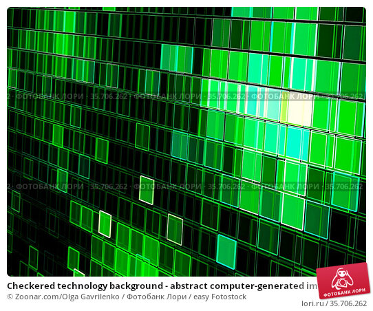 Checkered technology background - abstract computer-generated image... Стоковое фото, фотограф Zoonar.com/Olga Gavrilenko / easy Fotostock / Фотобанк Лори
