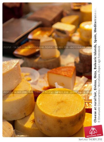 Купить «Cheese at rural fair, Eivissa, Ibiza, Balearic Islands, Spain, Mediterranean, Europe.», фото № 14901310, снято 19 июня 2018 г. (c) age Fotostock / Фотобанк Лори