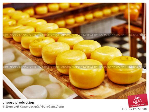 Купить «cheese production», фото № 12659310, снято 29 апреля 2015 г. (c) Дмитрий Калиновский / Фотобанк Лори