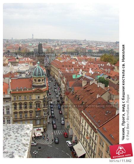 Чехия, Прага, вид с башни костела св. Николая, фото № 11842, снято 10 февраля 2006 г. (c) Paul Bee / Фотобанк Лори