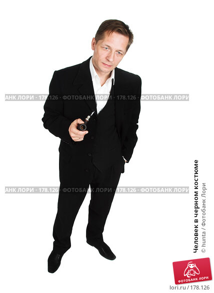 Купить «Человек в черном костюме», фото № 178126, снято 18 октября 2007 г. (c) hunta / Фотобанк Лори