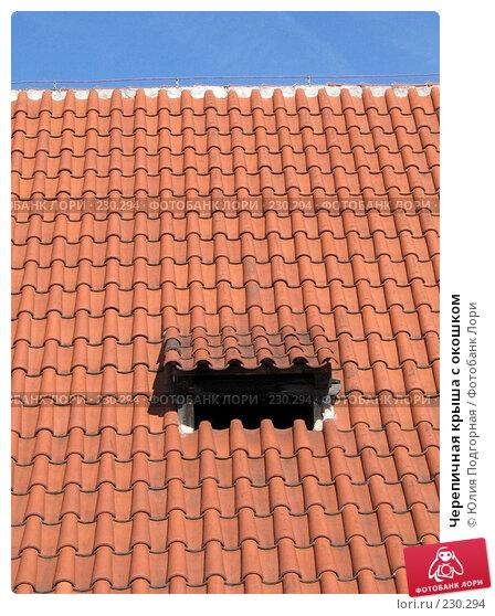 Черепичная крыша с окошком, фото № 230294, снято 15 марта 2008 г. (c) Юлия Селезнева / Фотобанк Лори