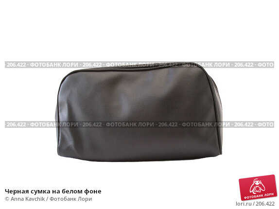 Черная сумка на белом фоне, фото № 206422, снято 18 февраля 2008 г. (c) Anna Kavchik / Фотобанк Лори