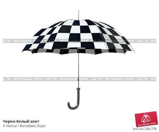 Черно-белый зонт, иллюстрация № 236778 (c) Hemul / Фотобанк Лори