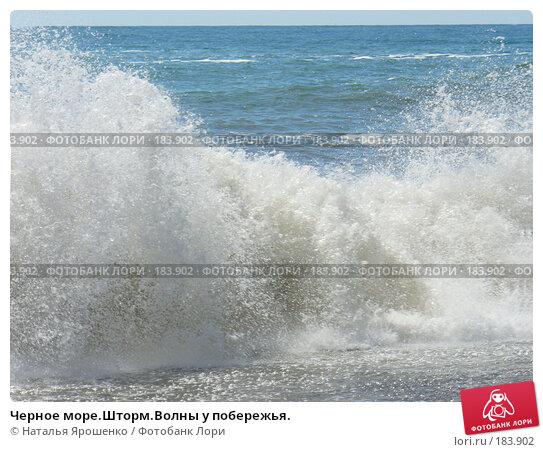 Черное море.Шторм.Волны у побережья., фото № 183902, снято 23 марта 2017 г. (c) Наталья Ярошенко / Фотобанк Лори
