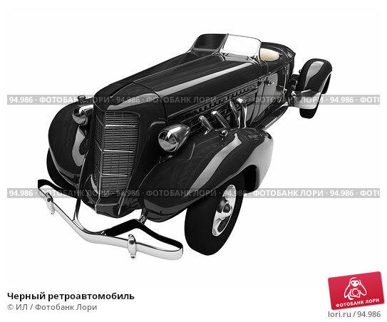 Черный ретроавтомобиль, иллюстрация № 94986 (c) ИЛ / Фотобанк Лори
