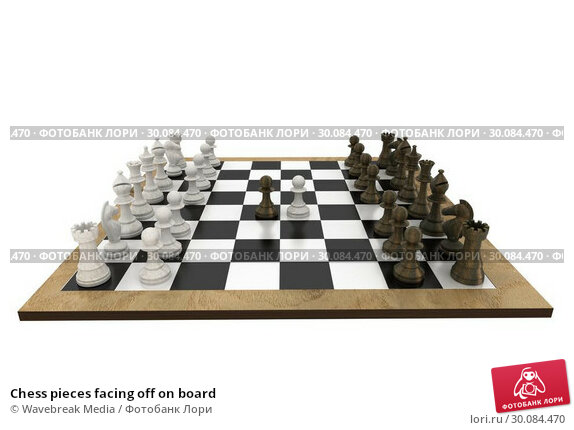 Купить «Chess pieces facing off on board», фото № 30084470, снято 27 мая 2014 г. (c) Wavebreak Media / Фотобанк Лори