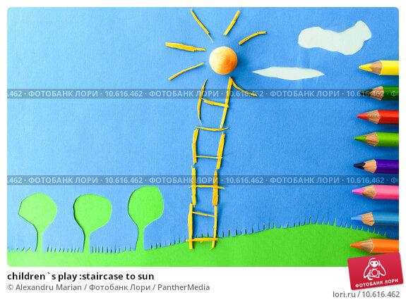 children`s play :staircase to sun. Стоковое фото, фотограф Alexandru Marian / PantherMedia / Фотобанк Лори