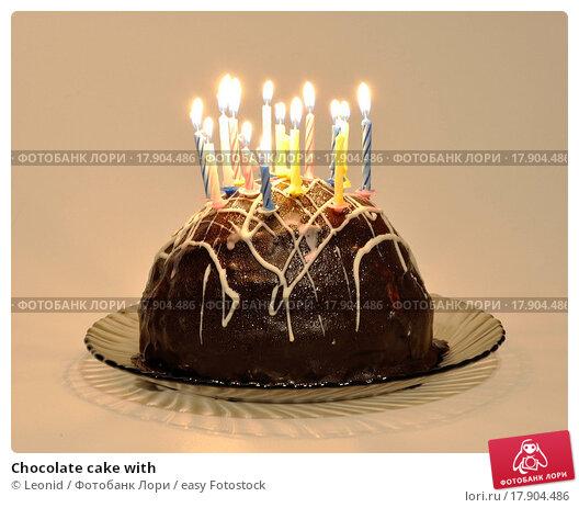 Большой торт со свечой фото