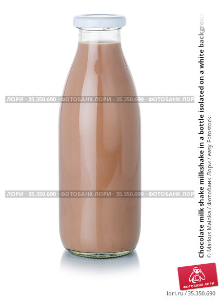 Chocolate milk shake milkshake in a bottle isolated on a white background... Стоковое фото, фотограф Markus Mainka / easy Fotostock / Фотобанк Лори
