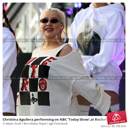 Christina Aguilera.performing on NBC 'Today Show'.at Rockefeller ... (2018 год). Редакционное фото, фотограф Adam Scull / age Fotostock / Фотобанк Лори
