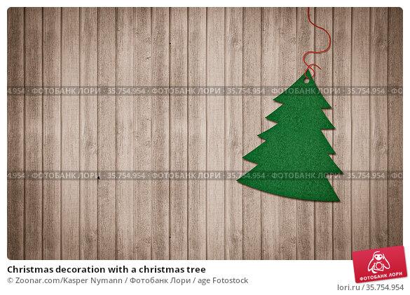 Christmas decoration with a christmas tree. Стоковое фото, фотограф Zoonar.com/Kasper Nymann / age Fotostock / Фотобанк Лори