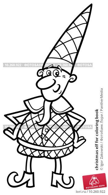 christmas elf for coloring book. Стоковая иллюстрация, иллюстратор Igor Zakowski / PantherMedia / Фотобанк Лори