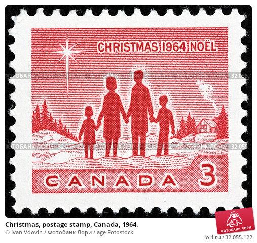 Christmas, postage stamp, Canada, 1964. (2014 год). Редакционное фото, фотограф Ivan Vdovin / age Fotostock / Фотобанк Лори
