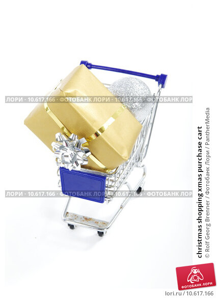 christmas shopping xmas purchase cart. Стоковое фото, фотограф Rolf Georg Brenner / PantherMedia / Фотобанк Лори