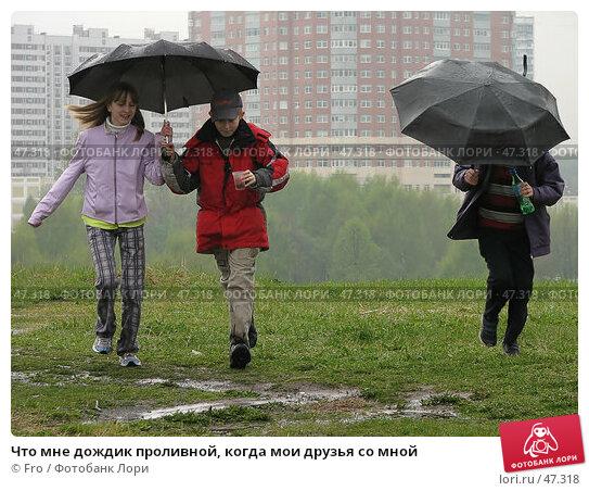 Купить «Что мне дождик проливной, когда мои друзья со мной», фото № 47318, снято 20 ноября 2017 г. (c) Fro / Фотобанк Лори