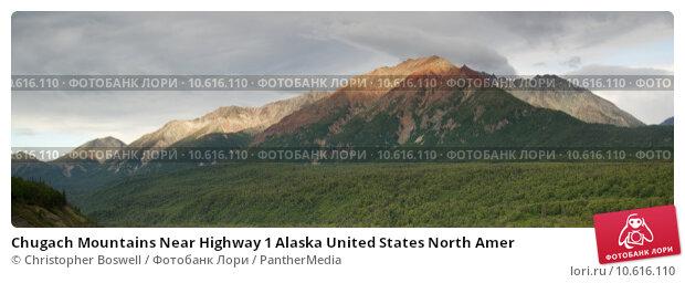 Chugach Mountains Near Highway 1 Alaska United States North Amer. Стоковое фото, фотограф Christopher Boswell / PantherMedia / Фотобанк Лори