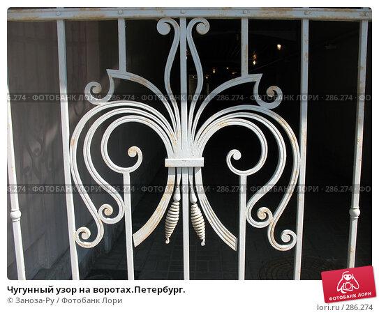Чугунный узор на воротах.Петербург., фото № 286274, снято 11 мая 2008 г. (c) Заноза-Ру / Фотобанк Лори
