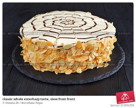 Купить «classic whole esterhazy torte, view from front», фото № 27819574, снято 8 февраля 2018 г. (c) Oksana Zhupanova / Фотобанк Лори
