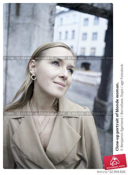 Close-up portrait of blonde woman. Стоковое фото, фотограф Benjamin Egerland / age Fotostock / Фотобанк Лори