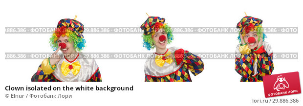 Купить «Clown isolated on the white background», фото № 29886386, снято 13 мая 2015 г. (c) Elnur / Фотобанк Лори