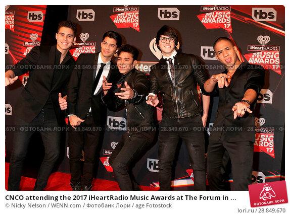 Изображение «CNCO attending the 2017 iHeartRadio Music Awards at The Forum  in Inglewood, California  Featuring: CNCO, Zabdiel de Jesus,