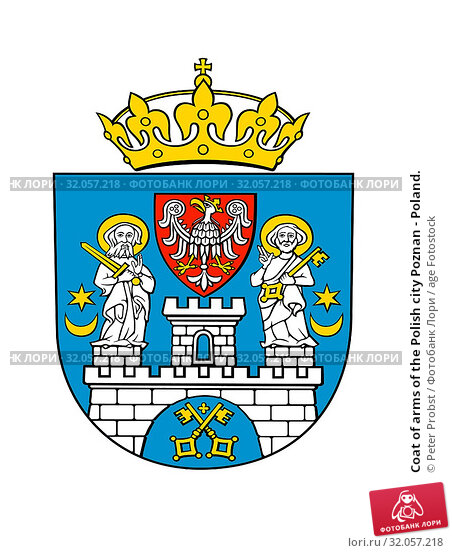 Coat of arms of the Polish city Poznan - Poland. Стоковое фото, фотограф Peter Probst / age Fotostock / Фотобанк Лори