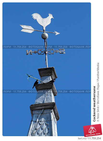Купить «Cockerel weathervane», фото № 11759254, снято 19 апреля 2019 г. (c) PantherMedia / Фотобанк Лори