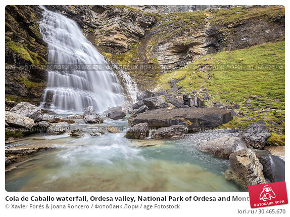 Cola de Caballo waterfall, Ordesa valley, National Park of Ordesa and Monte Perdido, Huesca, Spain. Стоковое фото, фотограф Xavier Forés & Joana Roncero / age Fotostock / Фотобанк Лори