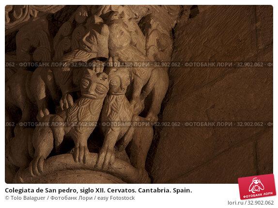 Colegiata de San pedro, siglo XII. Cervatos. Cantabria. Spain. Стоковое фото, фотограф Tolo Balaguer / easy Fotostock / Фотобанк Лори